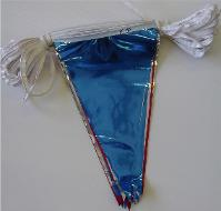 12 x 18 Red/Silver/Blue Metallic Pennant