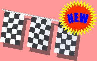 8 mil Checkered Pennants