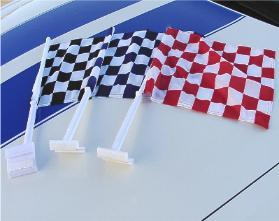 Checkered Clip-on Flags