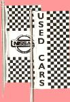 Checkered Drape Flags