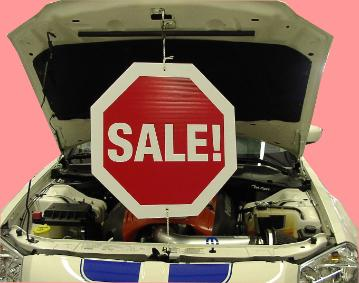 Underhood Spinning Sale Sign