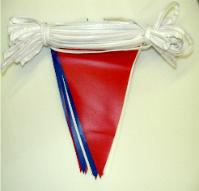 12 x 18 Red/Wht/Blue Plasticloth Pennant