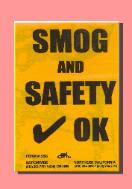 Smog and Safety Stickers