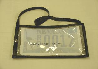 License Plate Tag Bag