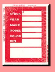 Red V400 Stock Tags