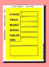 Yellow V400 Stock tags