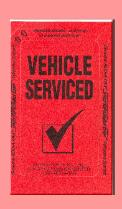 Vehicle Service Stickers