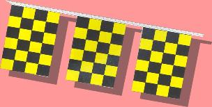8 mil Checkered Pennants Yellow
